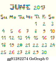 June 2017 Clip Art.