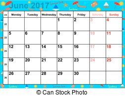 June 2017 english usa Clip Art Vector Graphics. 18 June 2017 english.