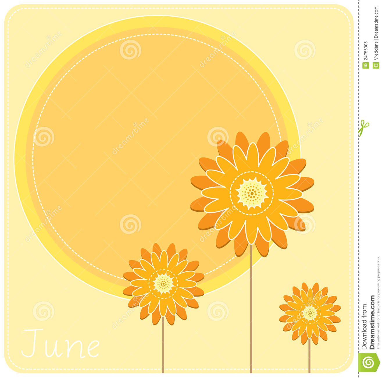 June Background stock vector. Illustration of pastel.