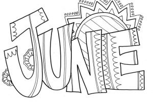 June clipart black and white 1 » Clipart Station.