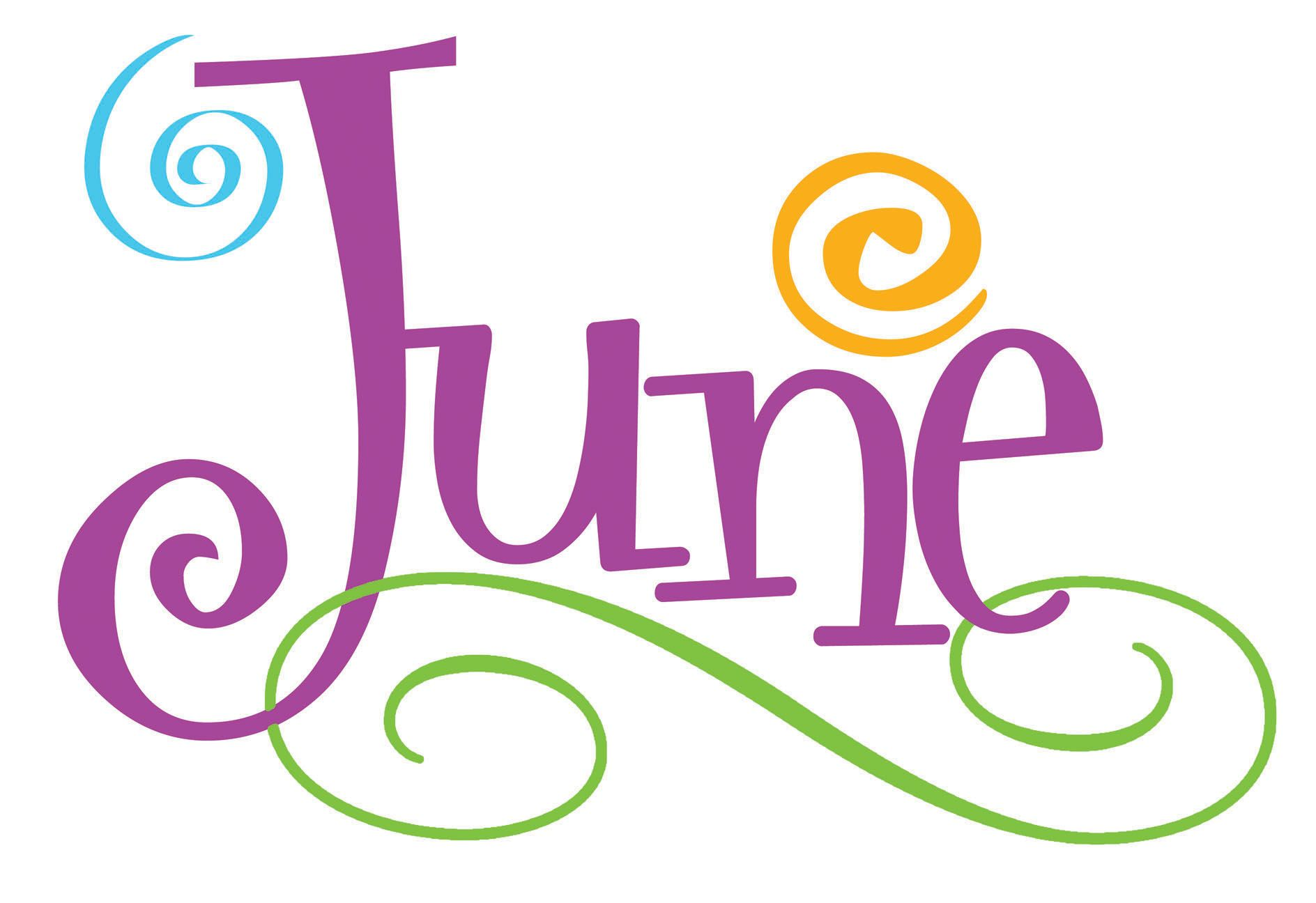 Collection of June clipart.