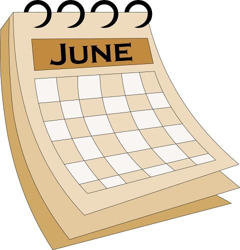 Calendar months clipart june.