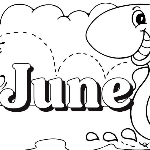 June clipart black and white » Clipart Station.