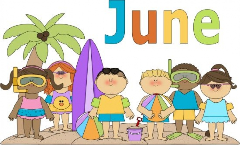 Calendar june clipart.