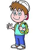 Clip Art of School bag k19693898.