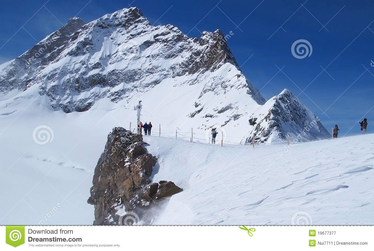 Jungfraujoch, The Top Of Europe Royalty Free Stock Photography.