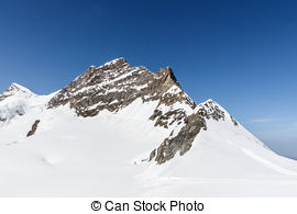 Stock Photo of Jungfrau Glacier.