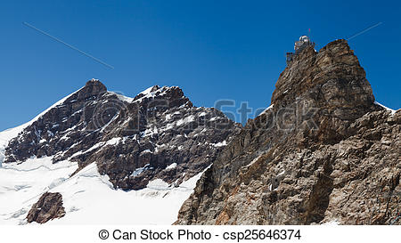 Picture of Sphinx high altitude observatory in Jungfraujoch pass.