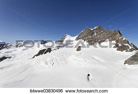 "Stock Images of ""Jungfraujoch, Jungfrau Mountain, Aletsch Glacier."