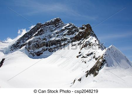 Stock Photographs of Top of Jungfrau (Bernesse alps, Switzerland.