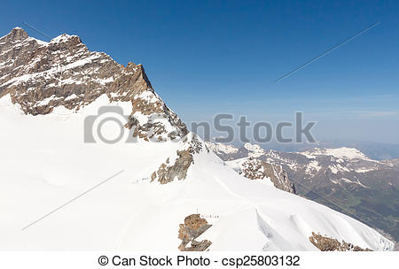 Stock Photos of Swiss Alps mountain landscape, Jungfrau.