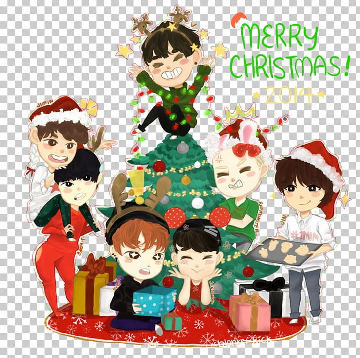 BTS Christmas Ornament Chibi Art PNG, Clipart, 2 K, Art.