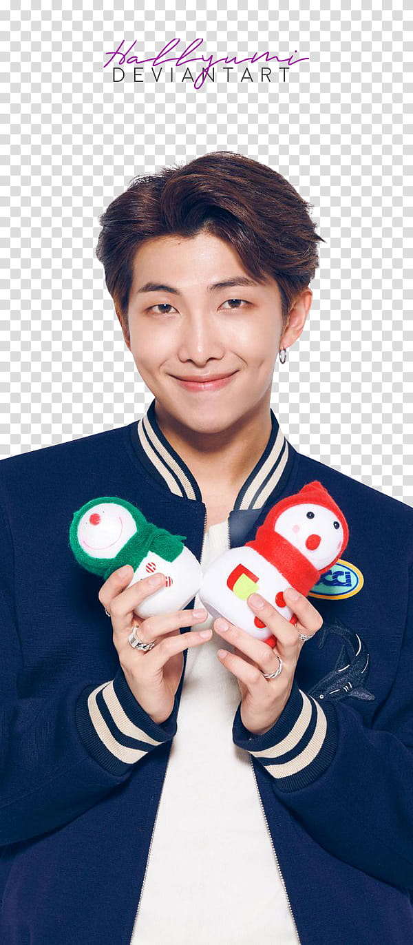 BTS LG Christmas, BTS RM transparent background PNG clipart.