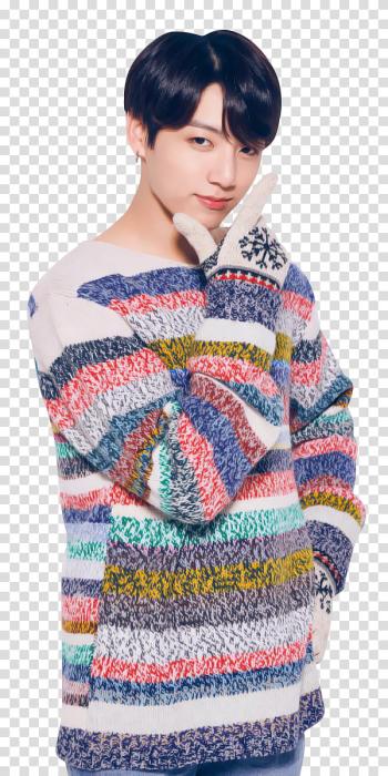 BTS BTS X LG MERRY CHRISTMAS, Jungkook from BTS transparent.
