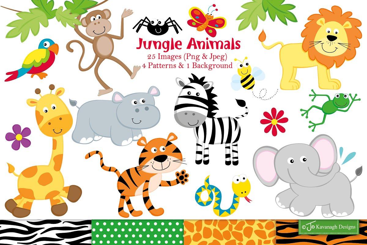 Jungle Animals Clipart.