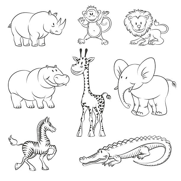 Jungle animals clipart black and white 7 » Clipart Station.