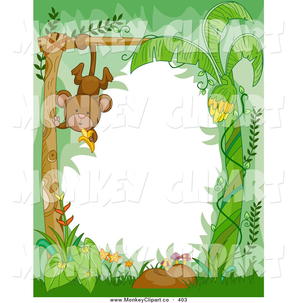 Jungle Animal Border Clipart.