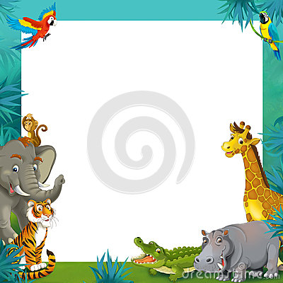 Images: Zoo Animal Clipart Border.