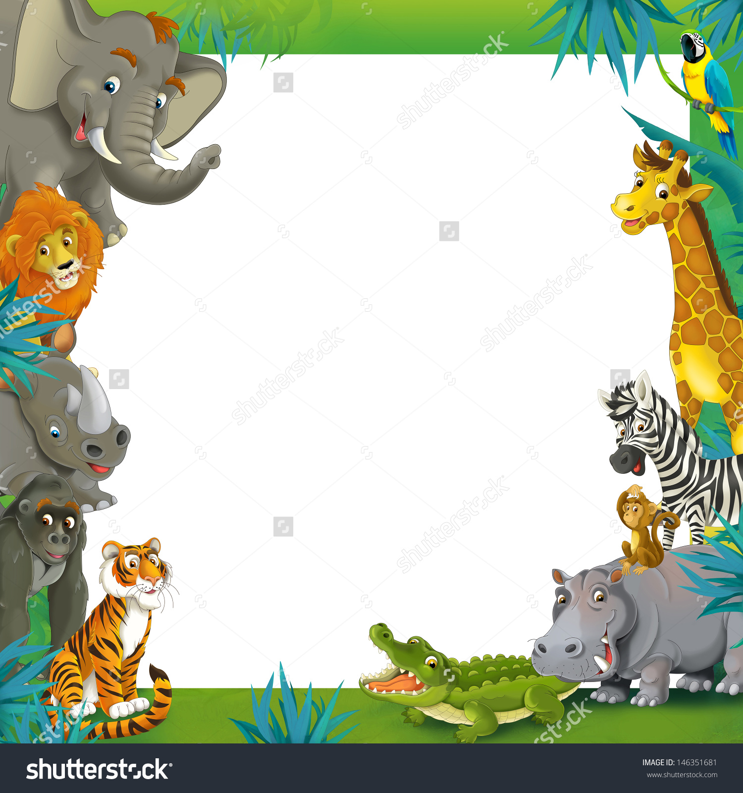 Jungle Animal Clipart Borders Clipground