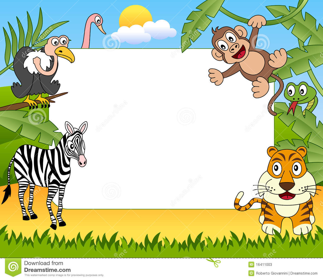 Jungle Animal Clipart Borders 20 Free Cliparts