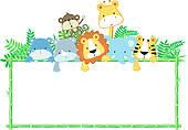 Baby Animals Clipart Border.