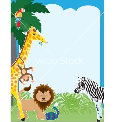 Similiar Baby Jungle Animals Border Clip Art Keywords.
