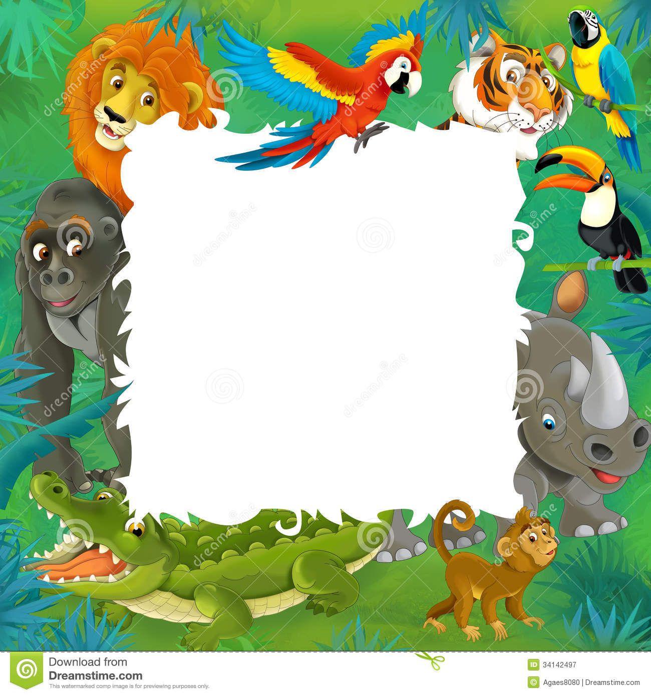 templates of jungle animals.