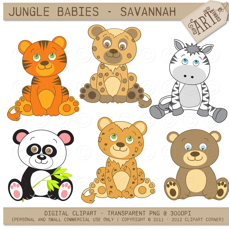Baby Safari Animals Clipart#2175885.