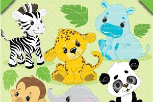 Jungle baby clipart Photos, Graphics, Fonts, Themes, Templates.