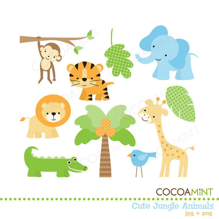 Download Free png jungle baby clipart animals j.