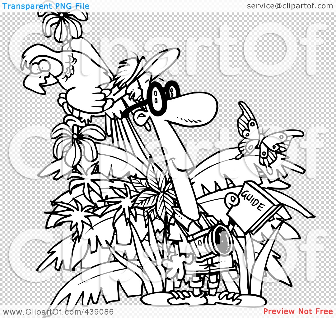 Jungle Background Clipart Black And White.