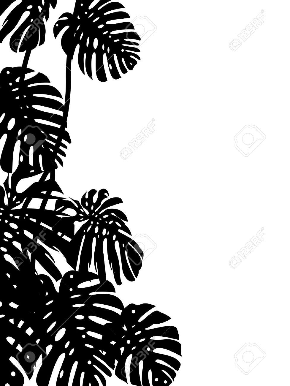 Tropical Leaf Background Royalty Free Cliparts, Vectors, And Stock.