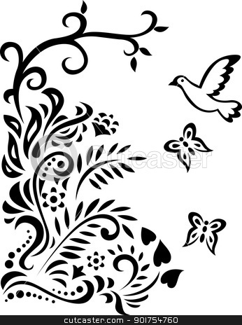 Clip Art Forest Black And White.