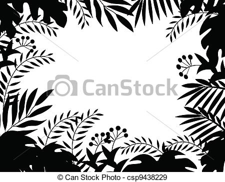 Jungle Background Clipart Black And White Clipground