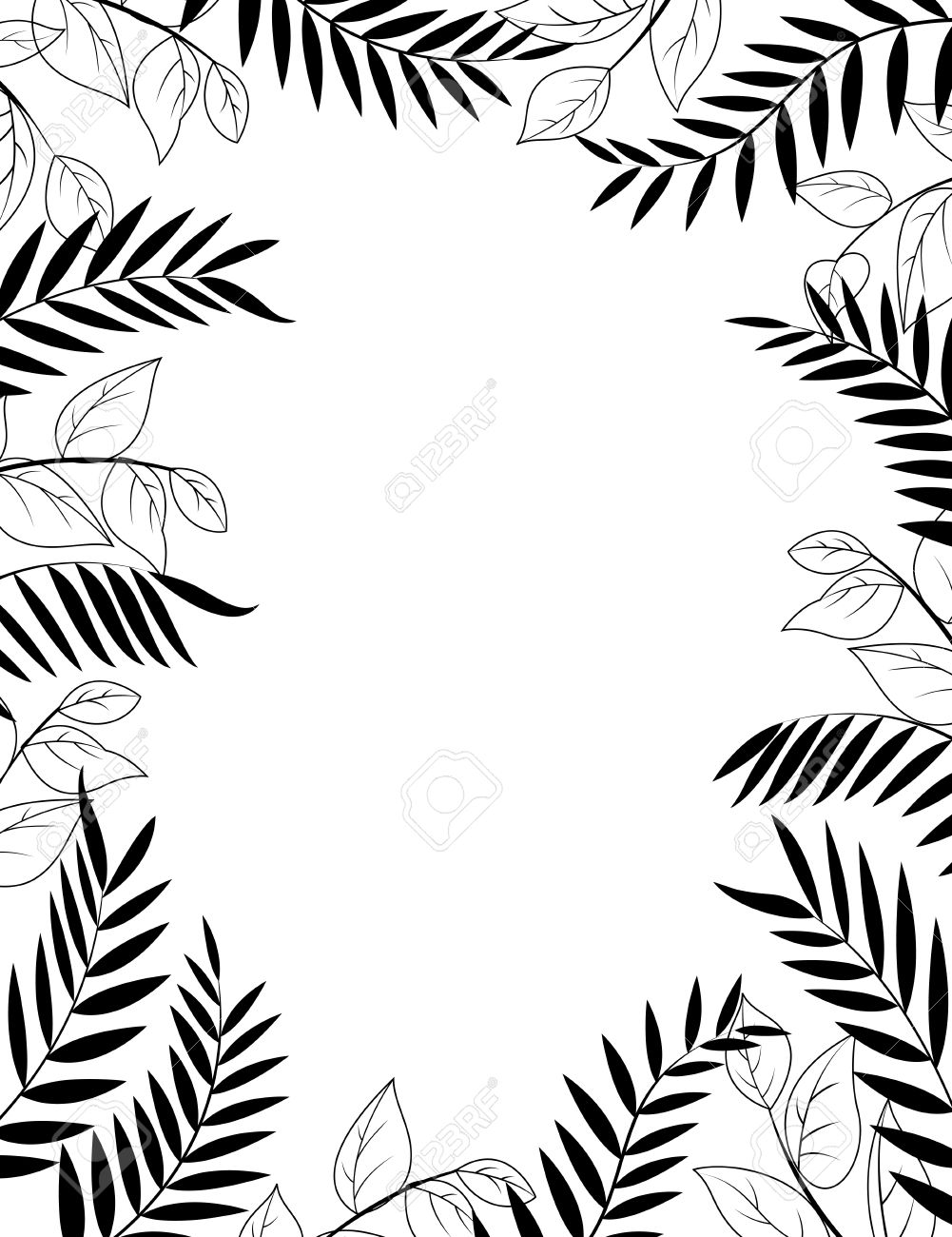jungle background clipart black and white - Clipground