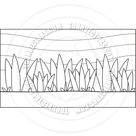 Seamless Jungle Background (Black and White Line Art) by Cory.