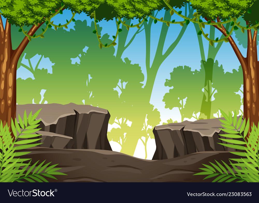 A green jungle background.