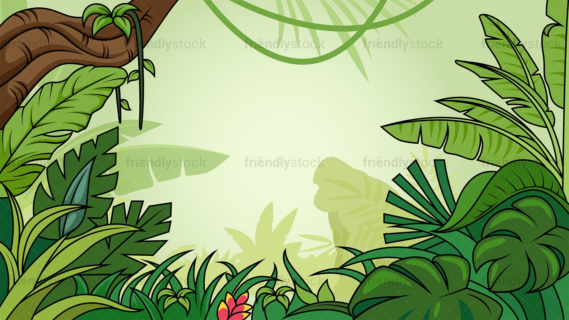 Tropical Jungle Background.