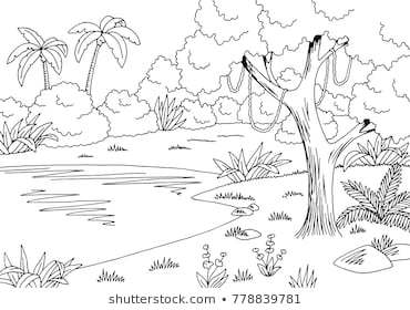 Jungle clipart black and white 4 » Clipart Portal.
