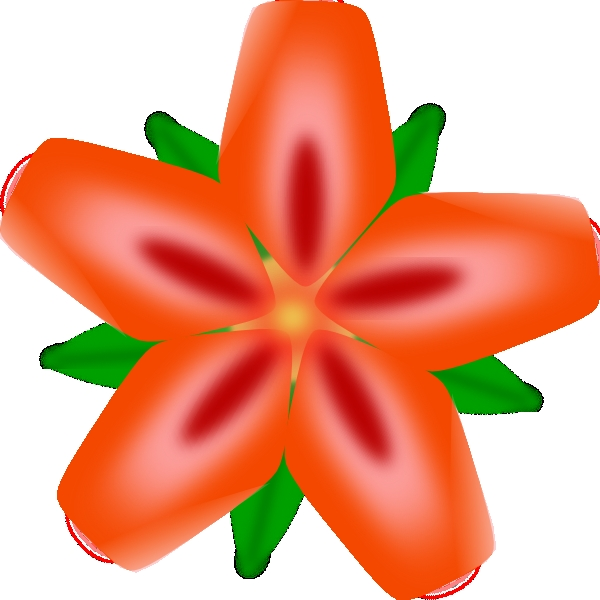Jungle Flowers Clipart Atulasthana Red Flower Clip Art At.