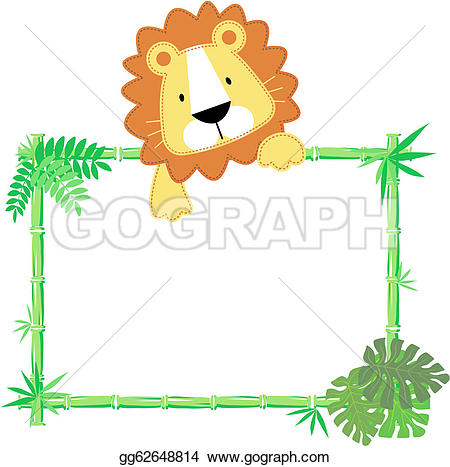 Jungle Frame Clip Art.