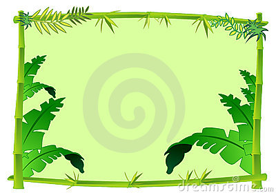 Rainforest Leaves Template jungle frame cli...