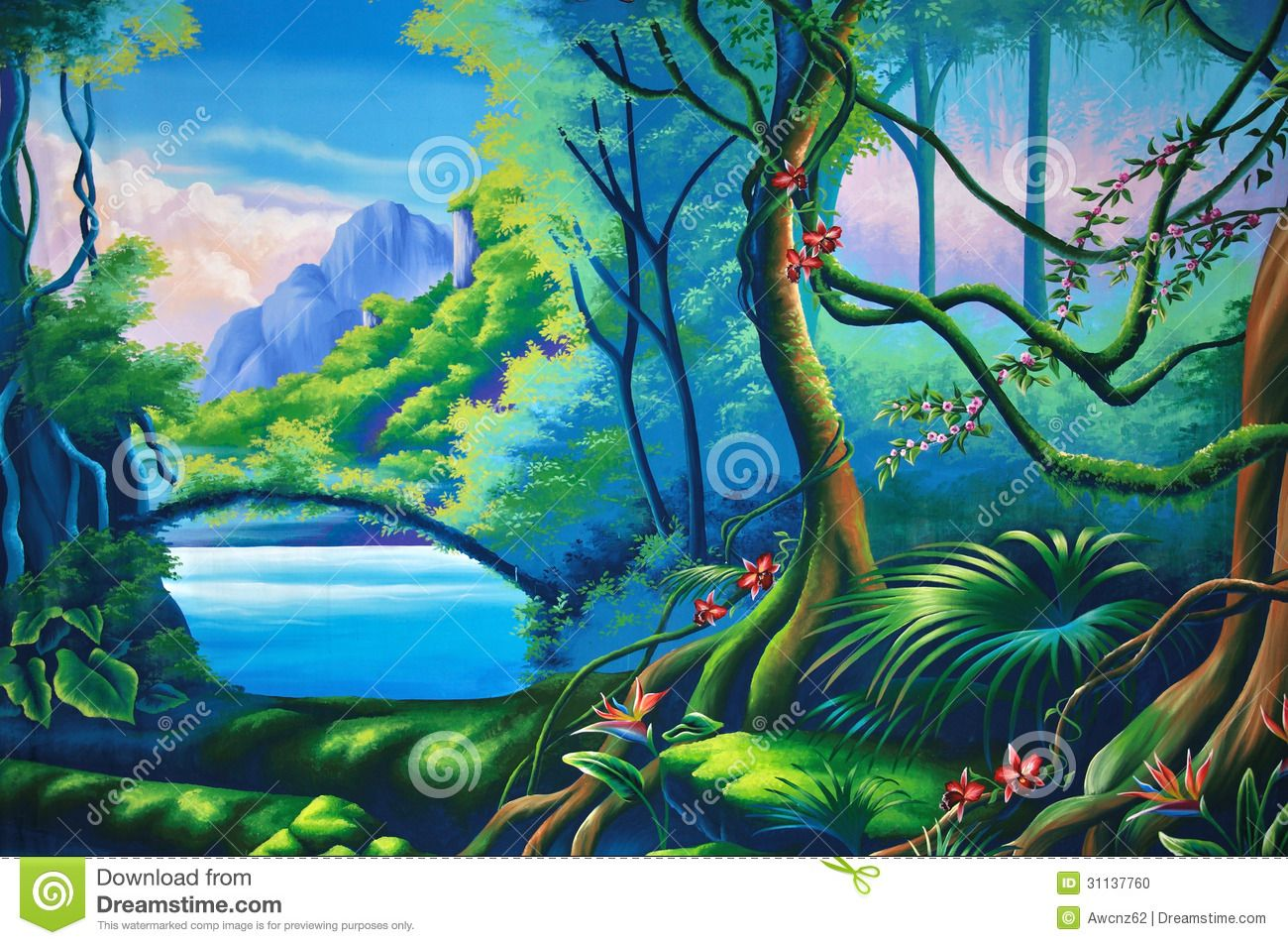 Images For > Jungle Clipart Background.
