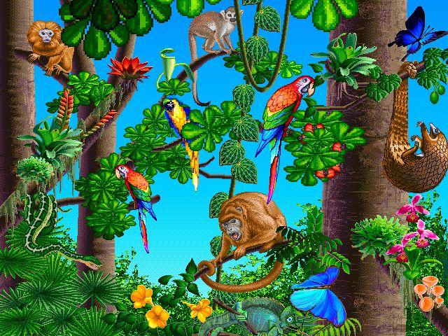 Jungle scene clipart kid 2.