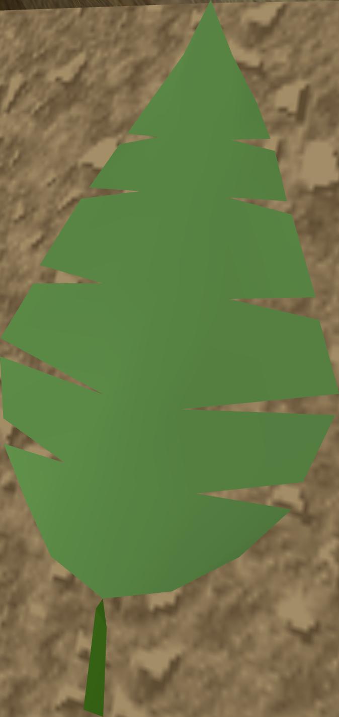 Jungle leaf stencil.