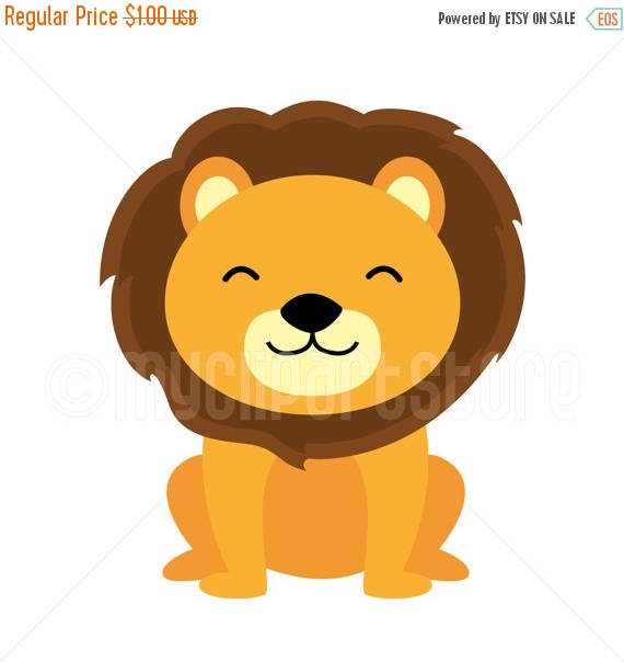 jungle lion clipart #9