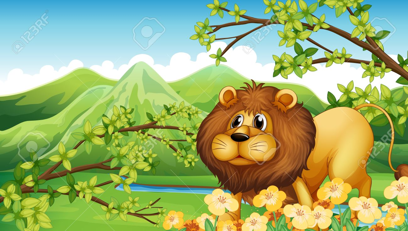 Jungle Lion Clip Art.