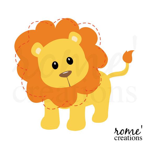 Black And White Lion Clip Art.