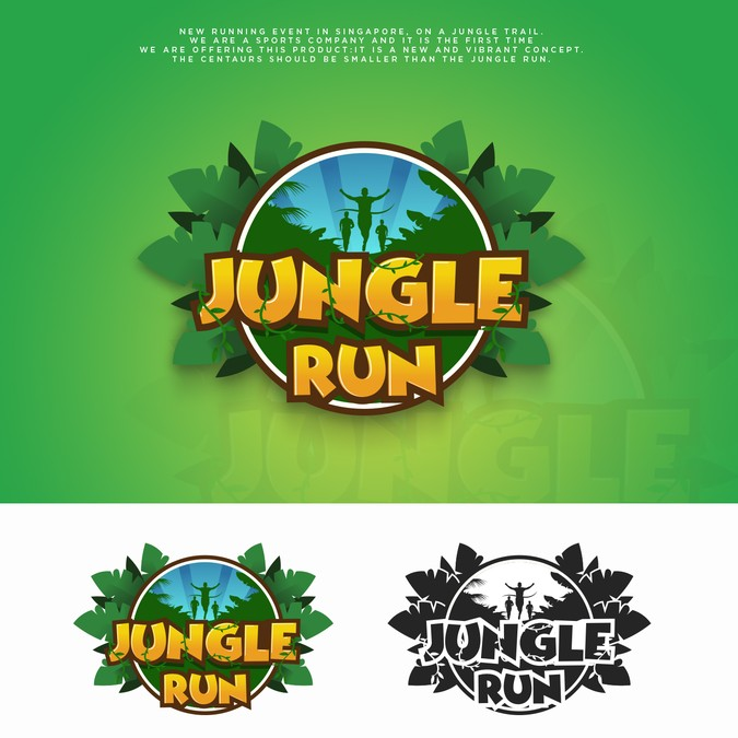 Active, vibrant and playful logo for brand new jungle trail.