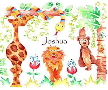 child's table mat, jungle place mat,personalised table mat,animal.